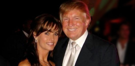 Karen McDougal and Donañd Trump