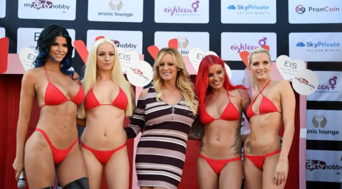 Exklusives Interview mit Stormy Daniels at the VENUS erotic Fair in Berlin 2018