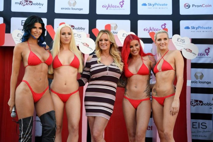An interview with Stormy Daniels at the VENUS erotic Fair in Berlin 2018