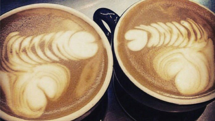 erotic latte coffee cream art